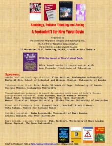 Sociology, Politics, Thinking and Acting : A Festschrift for Nira Yuval-Davis