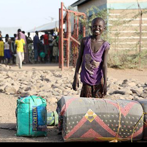 A child arrives at Kakuma. Photo courtesy of Lutheran World Federation.