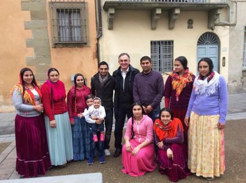 Enrico Rossi, president of Tuscany, and his neighbours, 2014
