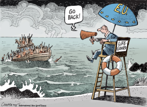 © Chappatte – http://www.globecartoon.com – Used by Migrants At Sea with permission.