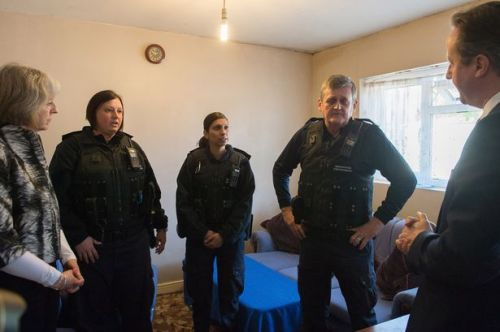 Photo opportunism for Theresa May and David Cameron who joined enforcement officers on an immigration raid on the day ONS data are released.