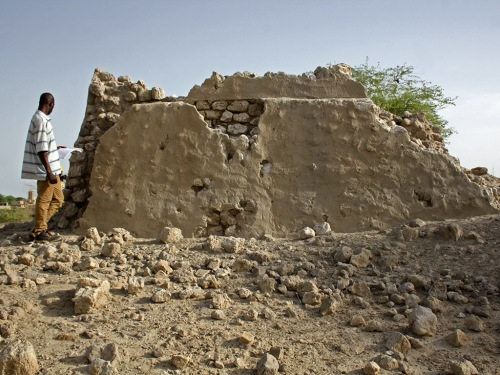 The partially destroyed Alpha Moya mausoleum in Timbuktu in 2013 (Photo: World Monuments Fund)