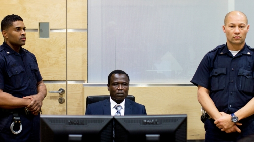 Dominic Ongwen during pre-trial proceedings at the International Criminal Court (Photo: ICC)